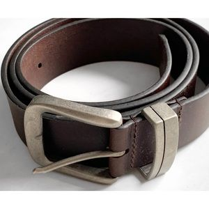 Malibu Cowboy Brown Leather Belt 42